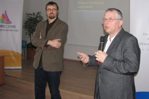 Prof. zw. dr hab. Ryszard Kaczmarek i dr Maciej Fic podczas II Konferencji Metodologicznej PER