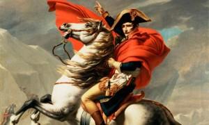 Napoleon on Horseback at the St Bernard Pass byJacques-Louis David