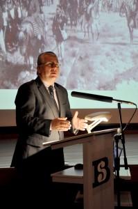 Prof. Ryszard Kaczmarek – z-ca dyrektora Biblioteki Śląskiej ds.Instytutu Badań Regionalnych